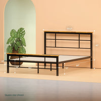 Metal and Wood Urban Platform Bed Frame Thumbnail