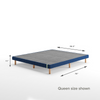 Justina Metal Mattress Foundation 11 Navy Blue Queen size shown Thumbnail