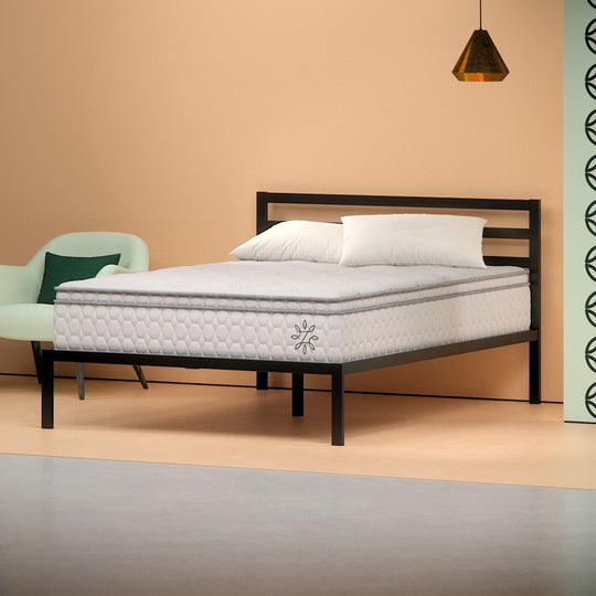 Cooling Euro Top Pocketed iCoil Spring Mattress - angle shot