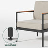 Savannah Aluminum and Wood Outdoor Armchair  Thumbnail