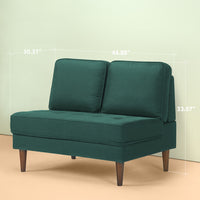 Christine Armless Loveseat Thumbnail