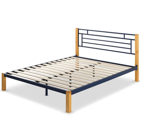 Taylan Metal And Wood Platform Bed Frame Zinus