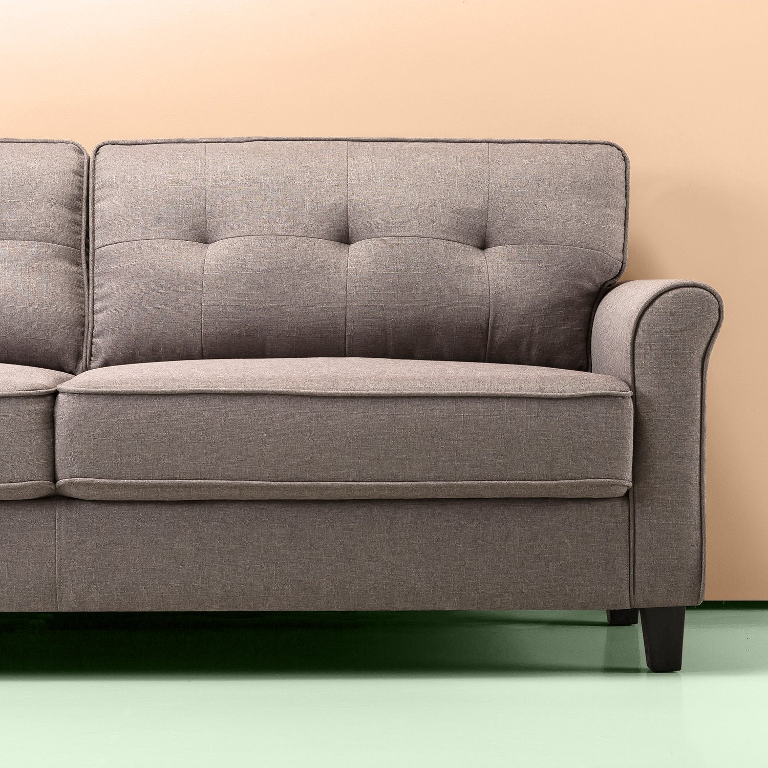 Sand Grey Traditional Sofa