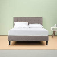 Brandy Upholstered Platform Bed Frame Thumbnail