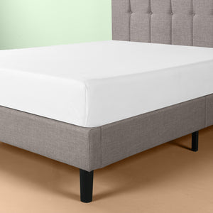 Brandy Upholstered Vertical Detailed Platform Bed Frame
