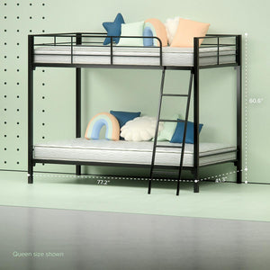 Patti Steel Quick Lock Bunk Bed Zinus