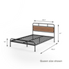 Eli Metal and Wood Platform Bed queen size dims shown Thumbnail