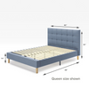 Lottie upholstered platform bed frame queen size shown Thumbnail