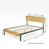 olivia metal and wood platform bed frame Queen size Dimension Thumbnail