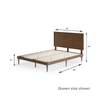 Raymond wood platform bed frame with adjustable headboard height queen size shown Thumbnail