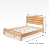 Aimee Wood Platform Bed Frame Queen Size Dimensions Thumbnail