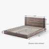 Brock Metal and Wood Platform Bed Frame queen size dimensions shown Thumbnail