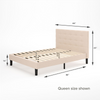 Ibidun upholstered platform bed frame Queen size Dimension Thumbnail