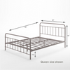 Florence Metal Platform Bed Frame Queen size Mattress Thumbnail