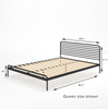Tom Metal Platform Bed Frame Dimensions queen size shown Thumbnail