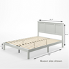 Andrew wood Platform Bed frame queen size Dimension Thumbnail