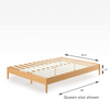 Amelia Wood Platform Bed Frame Queen Size Dimensions Thumbnail