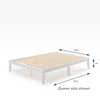 Moiz wood platform bed frame White Quarter Queen Size Dimensions Thumbnail