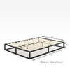 10 inch Joseph metal platforma bed frame queen size dimensions Thumbnail