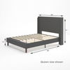 Marcus upholstered Platform Bed Dimension queen size dimension shown Thumbnail