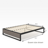 2019 GOOD DESIGN™ Award Winner - Suzanne Metal and Wood Platforma Bed Frame 14inch Queen Size Dimensions  Thumbnail