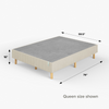 2019 GOOD DESIGN™ Award Winner - Justina Metal Mattress Foundation 16 inch queen size dimensions shown Thumbnail