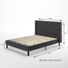 Dori Upholstered Platform Bed Frame Queen size dimensions Thumbnail