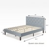 shalini upholstered platform bed frame queen size  Dimensions Thumbnail