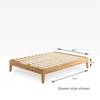Moiz Deluxe Wood Platform Bed Frame Queen Size Dimension Thumbnail