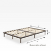 Bobbie Acacia Wood Platform Bed Frame Queen Size Dimensions Thumbnail