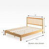 Becky Wood Platform Bed Frame Queen Size Dimensions Thumbnail