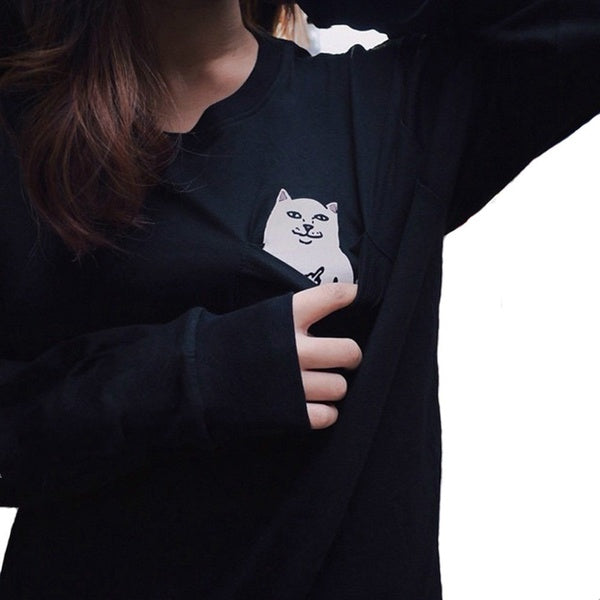 Middle Finger Cat Tee