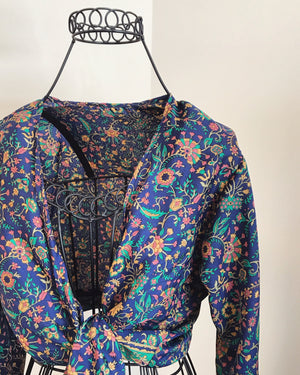 Local Hand Made Tie Blouse