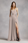 WHITE by Vera Wang Gown with Sash