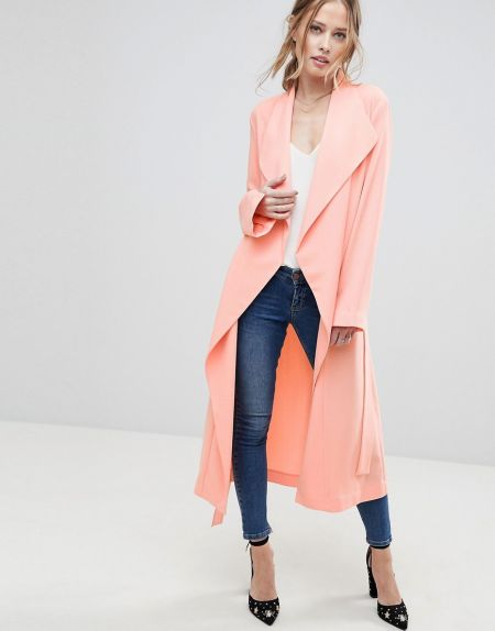 NWT ASOS Waterfall Jacket in Coral