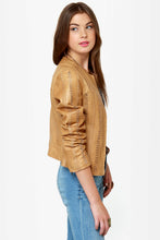 Load image into Gallery viewer, BB Dakota Antonia Buckskin Leather Jacket