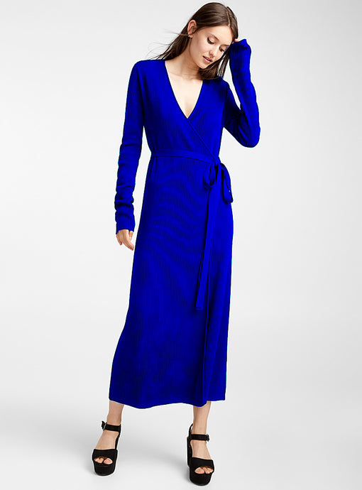 Icone Long Sleeve Wrap Dress