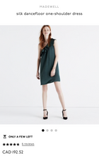 Load image into Gallery viewer, Madewell Silk Dancefloor One Shoulder Dress