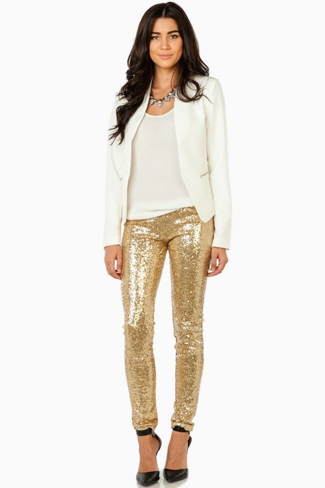 EQ Clothing Gold Sequin Legging