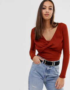 Asos Twist Front Crop Top