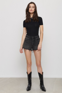 Dynamite Black Denim Shorts