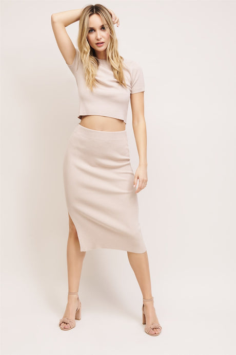 Dynamite Ribbed Skirt