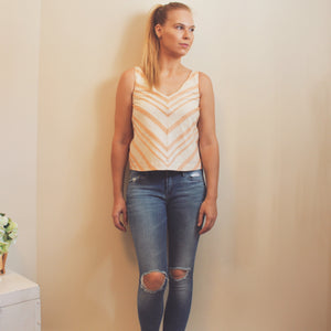 Anthropologie HD in Paris Linen Blend Top