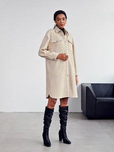 Shein Drop Shoulder Oversized Coat (M-L)