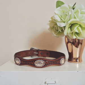 Authentic Leather Cowboy Waist Belt
