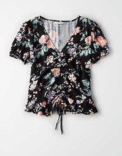 Load image into Gallery viewer, NWT American Eagle Cinched Floral Top