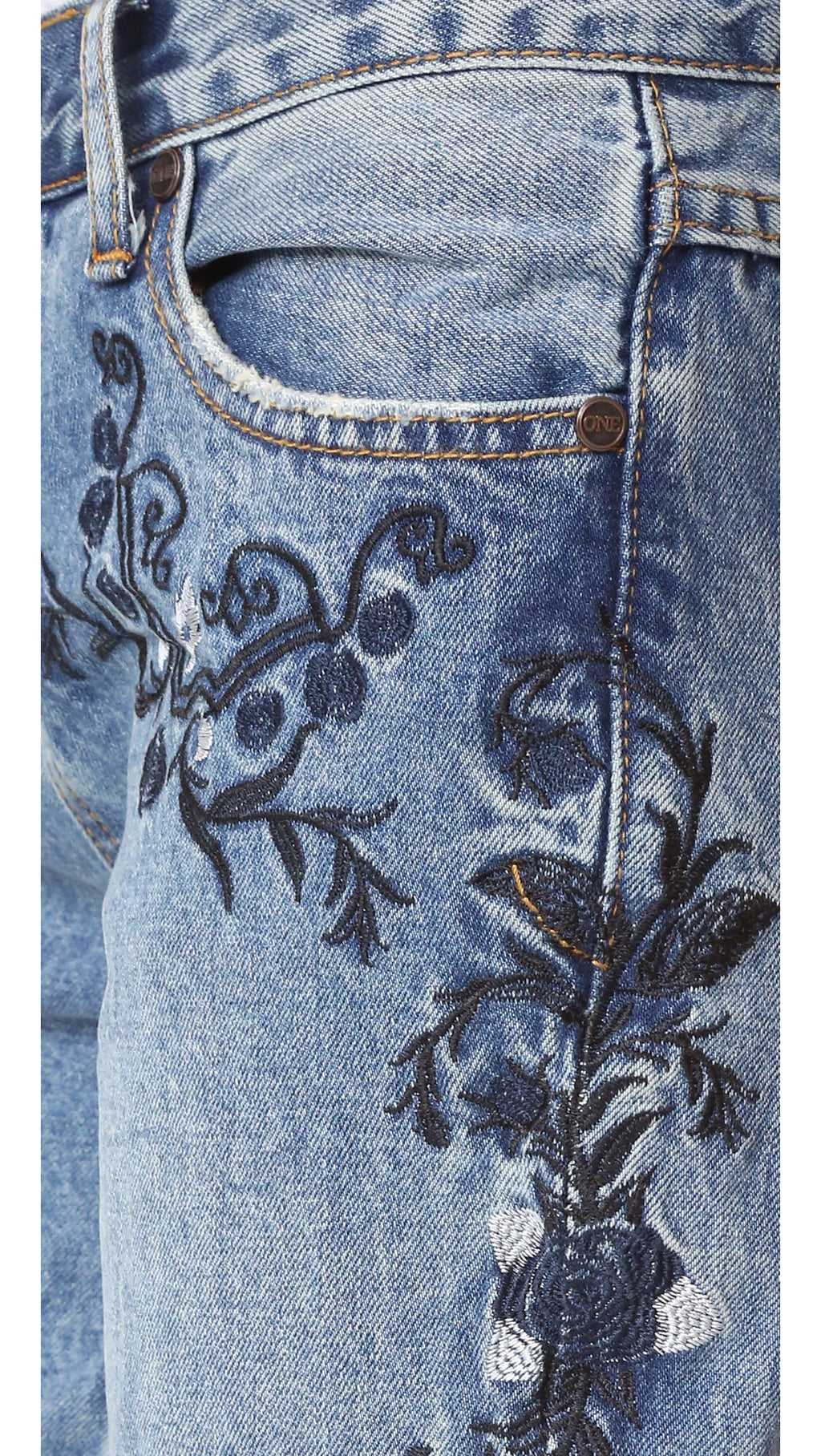 One Teaspoon Lola Awesome Embroidered Jeans