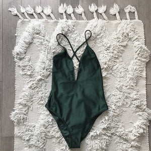 Forest Green One-Piece Swimsuit