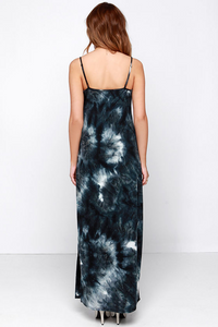 Gentle Fawn Pollock Slate Tie-Dye Maxi Dress