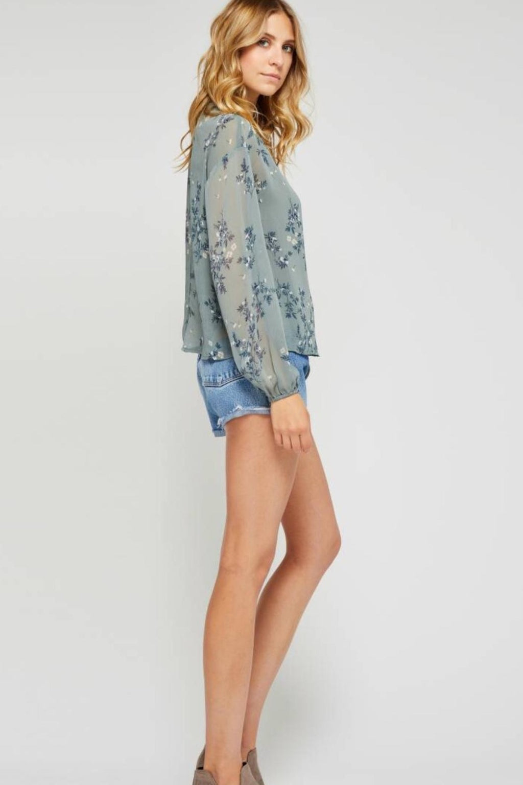 Gentle Fawn Floral Blouse